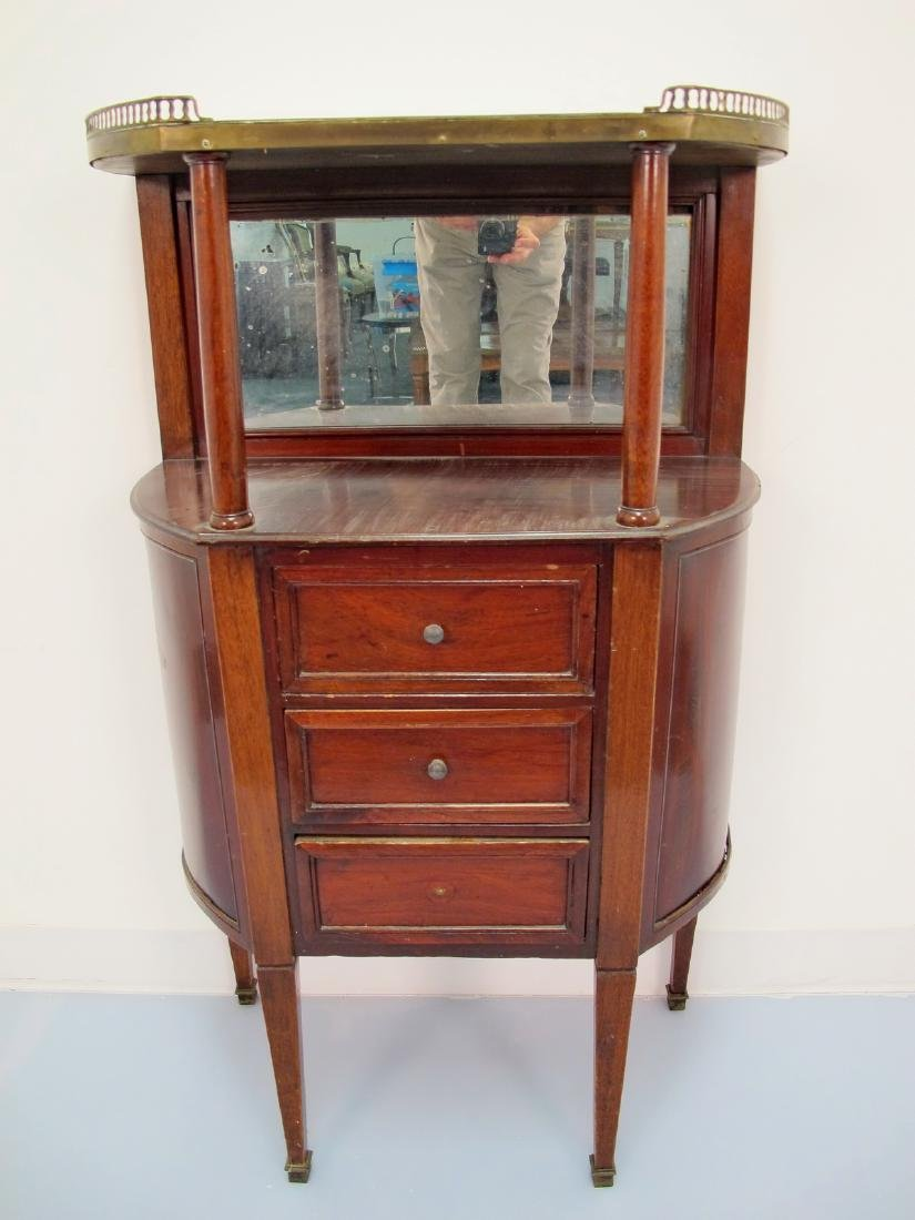 French Louis XVI style Marble Top Cabinet