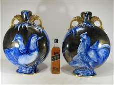 Royal Worcester Moon large pair of porcelain vases