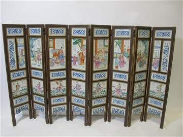 Unique Chinese 8 panels table standing screen