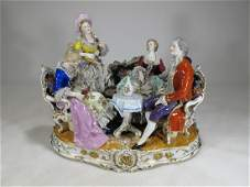 Antique French porcelain group statue