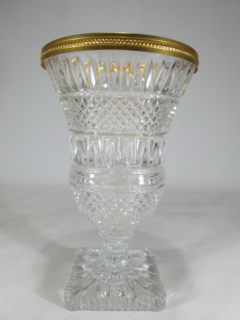 Vintage French gilt crystal vase