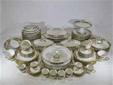 French Limoges porcelain 89 pcs dinner set
