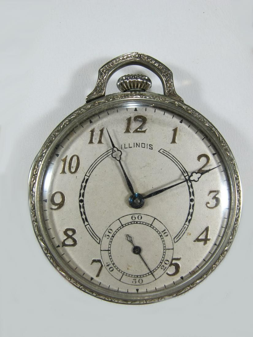 Vintage Illinois 14 k gold filled pocket watch