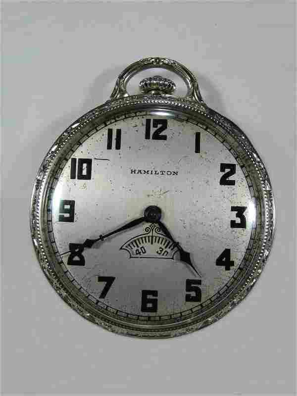 Hamilton Watch Co 14 k solid gold pocket watch