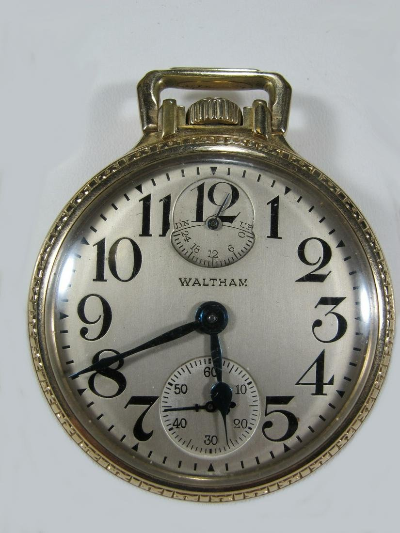 Waltham 10 k gold filled pocket watch