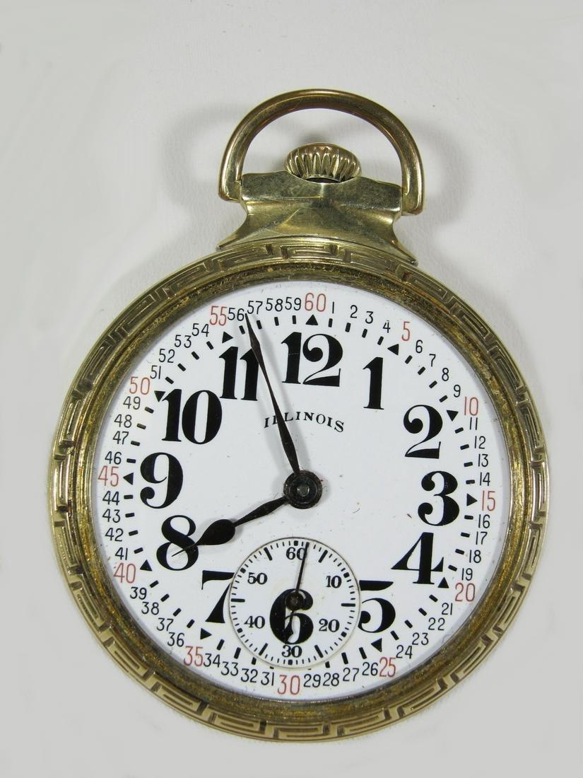 Vintage Illinois Watch Co 14k gold filled pocket watch
