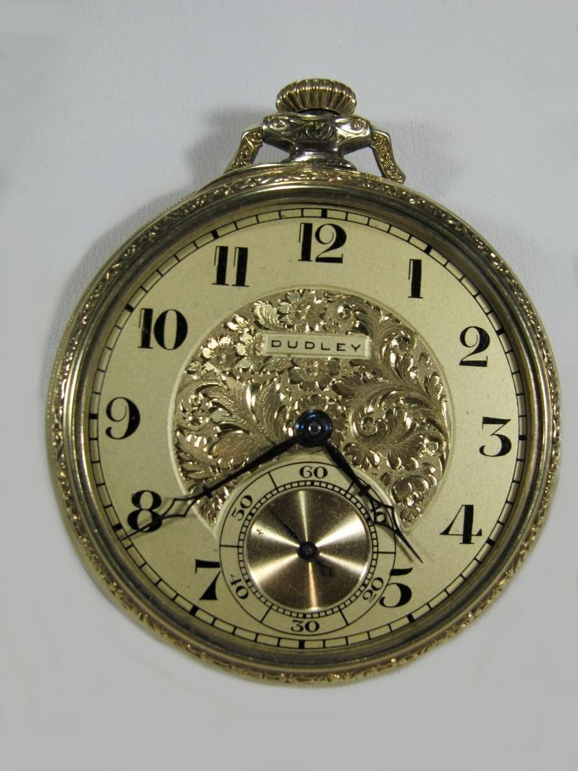 Dudley Masonic 14 K gold filled pocket watch