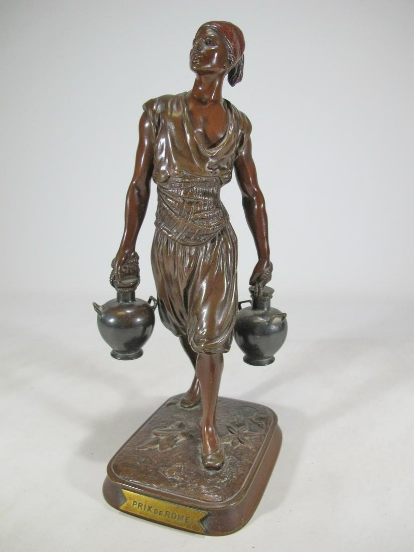 Marcel DEBUT (1865-1933) Arab water carrier bronze