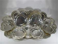 Maison Cardeilhac, France, 1895 silver set of 18 dishes