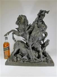 Theodore GECHTER (1796-1844) Charles Martel bronze