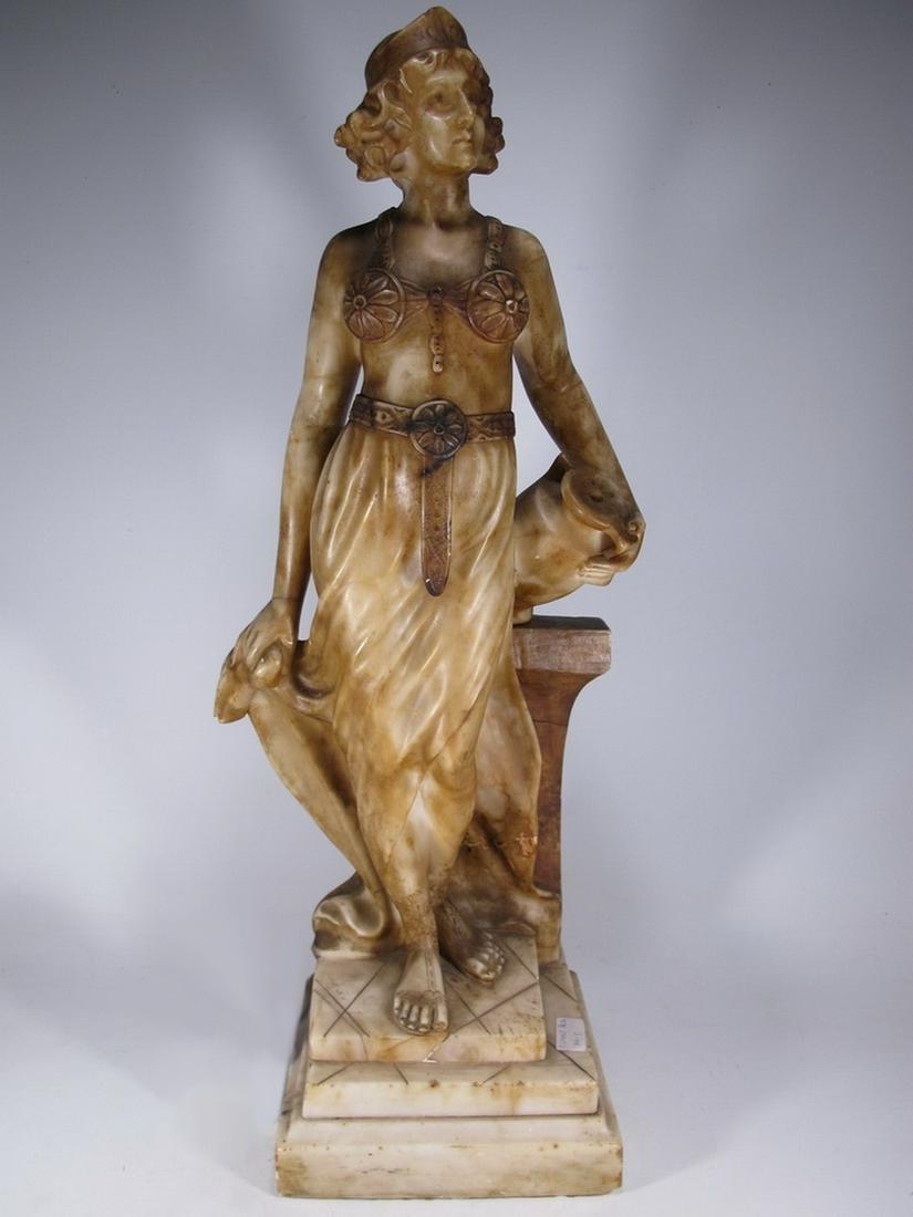 Antique Art Deco French alabaster sculpture