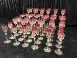 Set of 48 Baccarat Crystal Czar Tsar Goblets