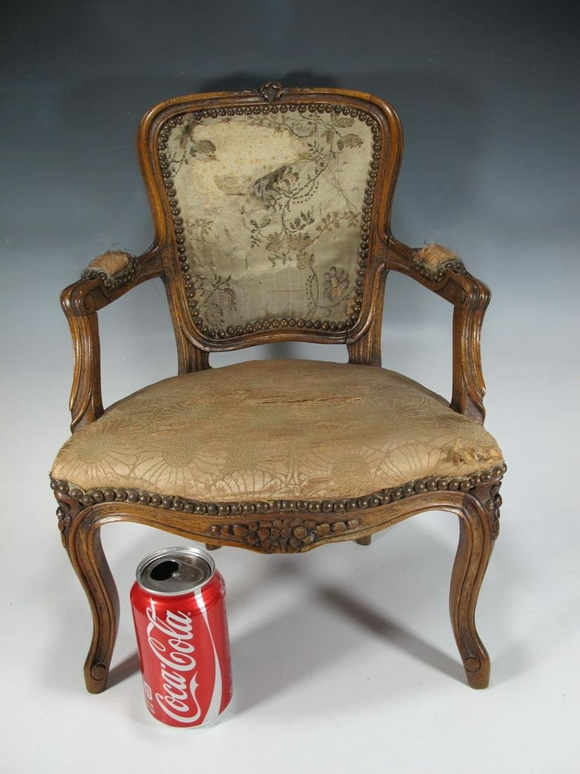 19th C. French Louis XV style miniature chair