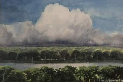 Tomas SANCHEZ (1948) Cuban artist mix