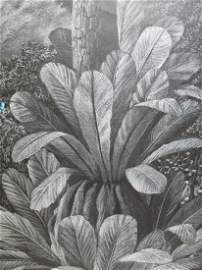 Tomas SANCHEZ (1948) Cuban artist pastel or charcoal
