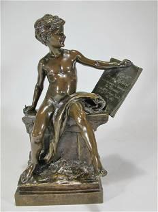 Louis Ernest BARRIAS 18411905 bronze sculpture