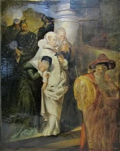 F GIRADET XIXXX oil on canvas painting