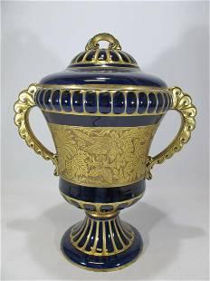 Antique Heinrich Baensch Germany porcelain urn