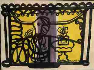 Amelia PELAEZ (1897-1968) Cuban artist ceramic vase