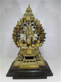 Rare antique Tibetan Buddhist bronze sculpture