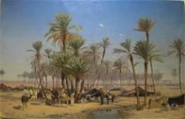 Edmund BERNINGER (1843-1929) Orientalist oil on canvas