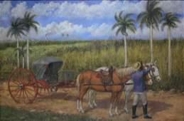 Eduardo MORALES (1868-1938) Cuban oil on canvas