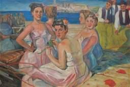 Oscar GARCIA RIVERA (1915-1971) Cuban oil on canvas