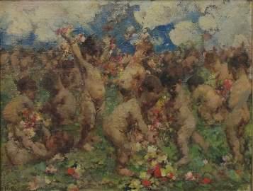 Vincenzo IROLLI (1860-1942/49) Italian oil on canvas