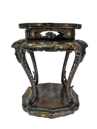 Antique Chinese mother of pearl inlaid small table