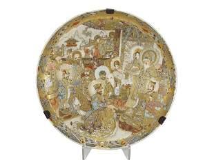 Antique Japanese Satsuma porcelain plate