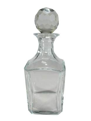 Antique Baccarat crystal bottle, signed