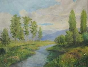 Signed E. A. LARRONDE, 1949 oil on canvas