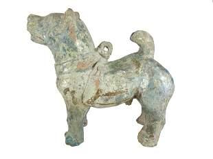 2nd Century Chinese Han dog ceramic sculpture