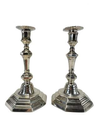 Vintage pair of silverplate candlesticks