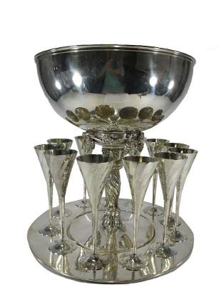 Volf Sheffield Collection silverplate service set
