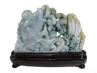 Vintage Chinese carved jade sculpture
