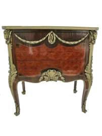 Linke quality bronze inlaid chest by J.F. OEBEN