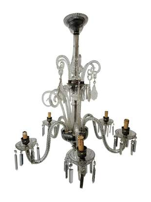 Vintage French glass chandelier