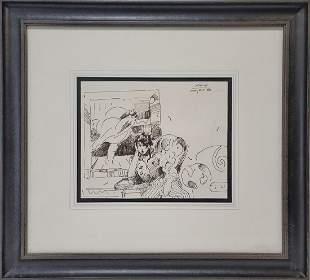 Peter MAX (1937) erotic drawing