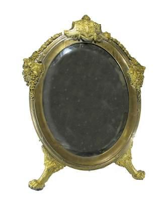 Huge antique German WMF Art Nouveau table mirror
