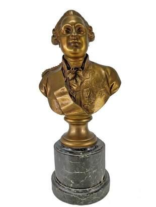 Jean Antoine HOUDON (1741-1828) bronze bust
