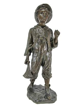 Antique French bronze sculpture, signed GOYEAU