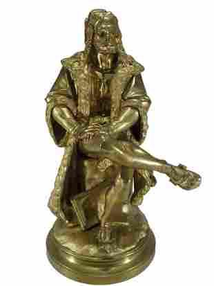 CARRIER-BELLEUSE (1824-1887) Albert Durer bronze statue