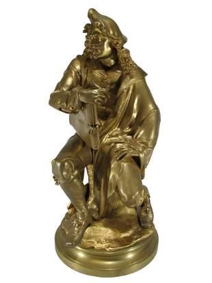 CARRIER-BELLEUSE (1824-1887) Rembrandt bronze statue