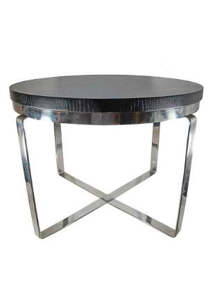 Mid Century small metal & wood side table