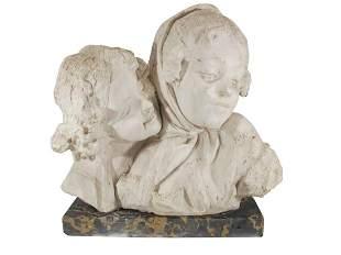 Antique European marble bust