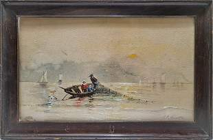 Signed R. P. Bonington watercolor painting