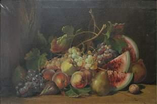 Antonio UBOLDI (1870-1930) oil on canvas fruits