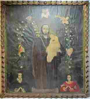 Early 20th C oil on canvas religious painting