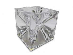 Daum, France cube crystal ashtray